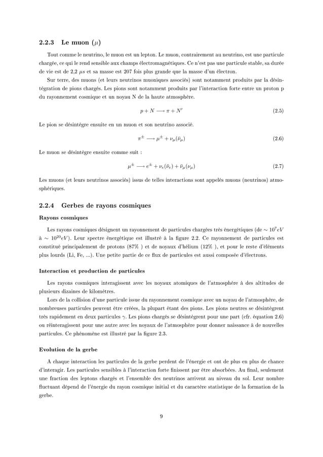 """2.2.3 Le muon (µ) """"out ™omme le neutrinoD le muon est un leptonF ve muonD ™ontr—irement —u neutrinoD est une p—rti™ule ™h—..."""