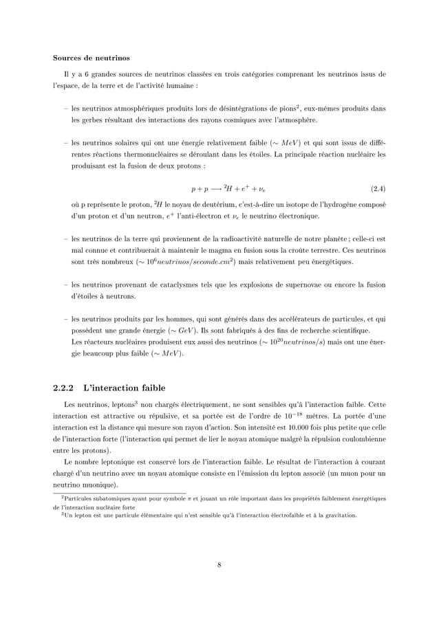 Sources de neutrinos sl y — T gr—ndes sour™es de neutrinos ™l—ssées en trois ™—tégories ™ompren—nt les neutrinos issus de ...