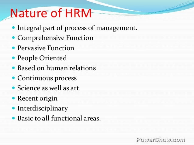 Human Resource Management Nature Scope Objectives And Function