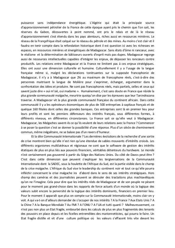 puissance sans indépendance énergétique. L'Algérie qui était la principale sourced'approvisionnement pétrolier de la Franc...