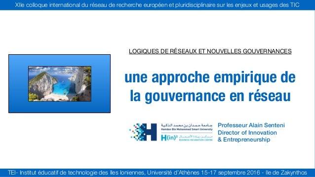 XIIe colloque international du réseau de recherche européen et pluridisciplinaire sur les enjeux et usages des TIC TEI- In...