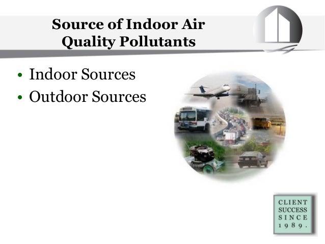 Source of Indoor Air Quality Pollutants • Indoor Sources • Outdoor Sources
