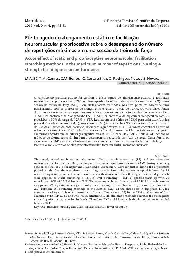 Motricidade © Fundação Técnica e Científica do Desporto 2013, vol. 9, n. 4, pp. 73-81 doi: 10.6063/motricidade.9(4).1198 E...