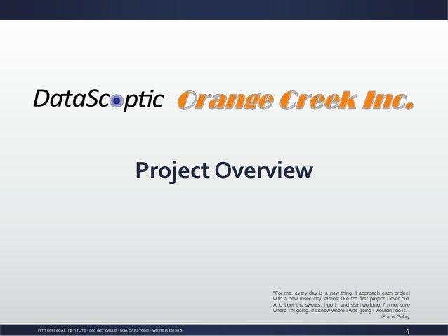 itt tech capstone project nsa