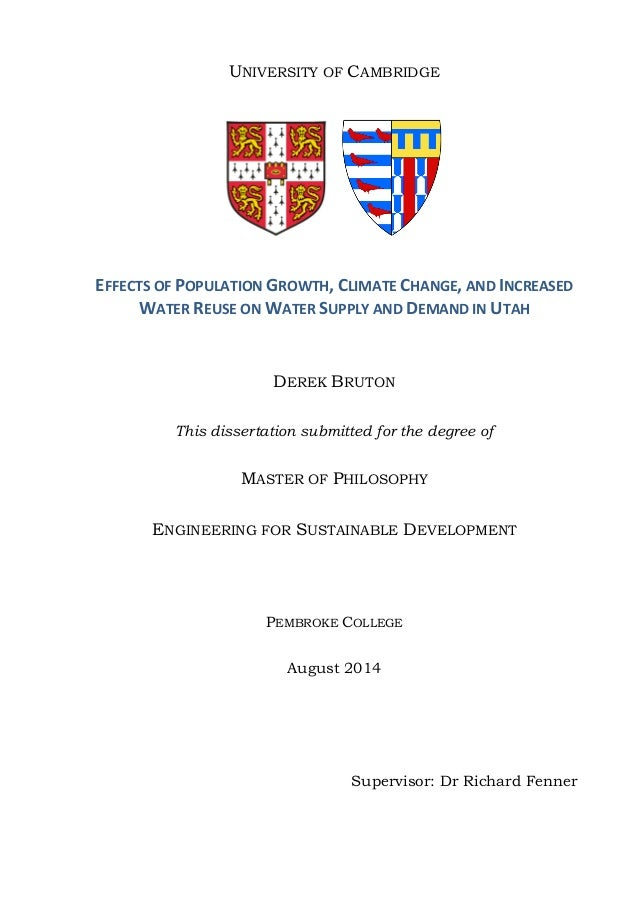 The MPhil Dissertation