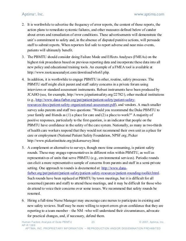 aptima_human factors analysis of duke university hospital pediatric b…, Powerpoint templates