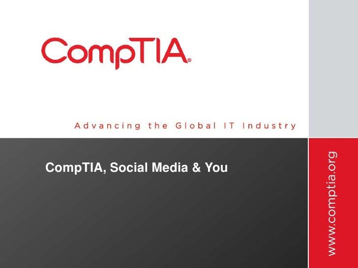 CompTIA, Social Media & You<br />