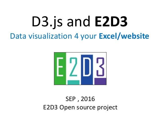 D3.js and E2D3 Data visualization 4 your Excel/website SEP , 2016 E2D3 Open source project