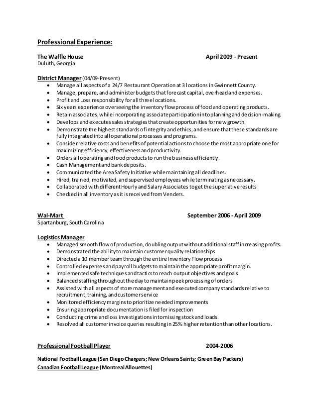 house manager resumes