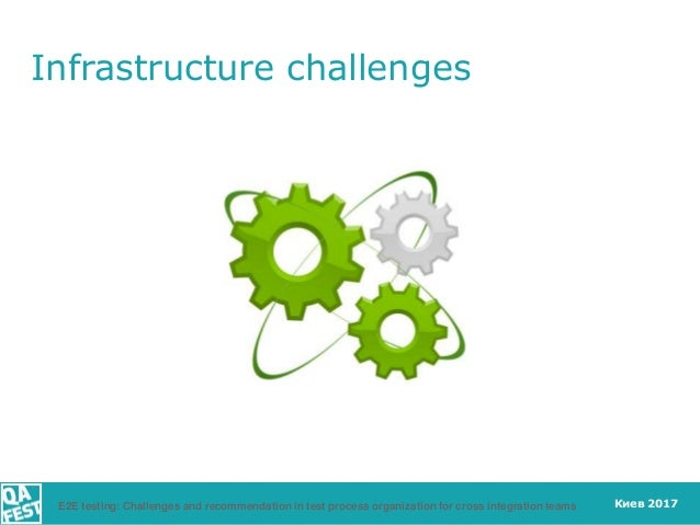 Киев 2017 Infrastructure challenges E2E testing: Challenges and recommendation in test process organization for cross inte...