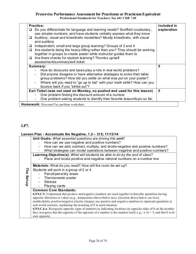 my practicum placement classroom report