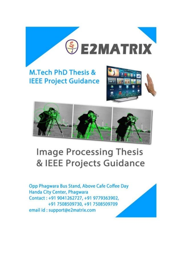 Phd thesis digital image processing