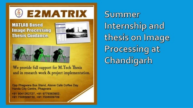 Dissertation image processing