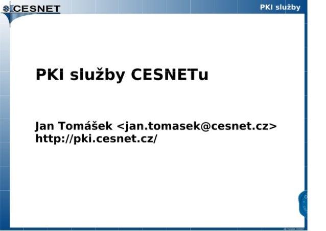 PKI služby CESNETu