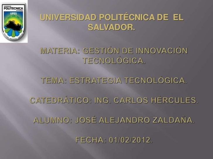 UNIVERSIDAD POLITÉCNICA DE EL          SALVADOR.