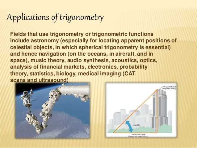 application of trigonometry in astronomy