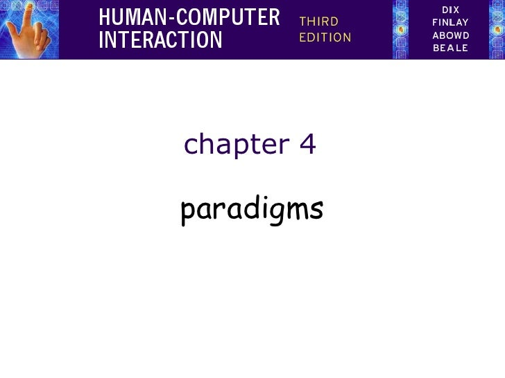 chapter 4paradigms