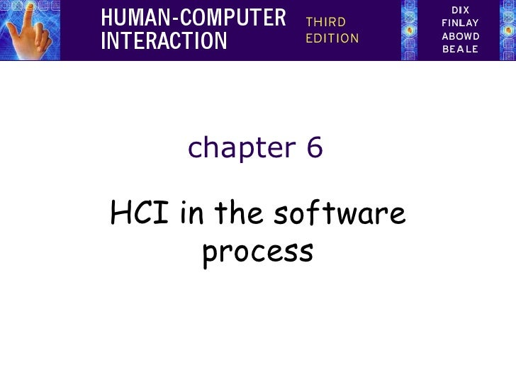 chapter 6HCI in the software      process