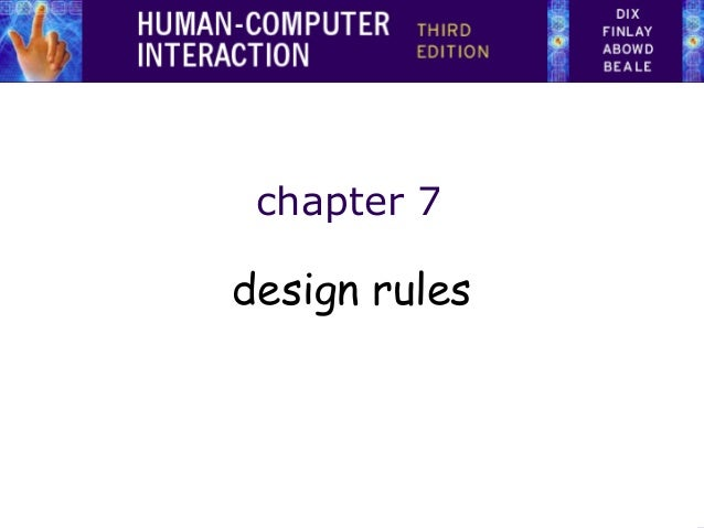 chapter 7  design rules
