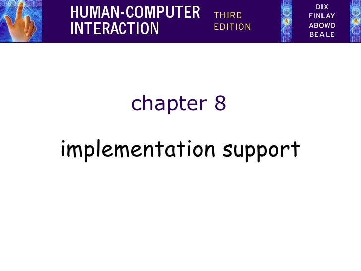 chapter 8implementation support
