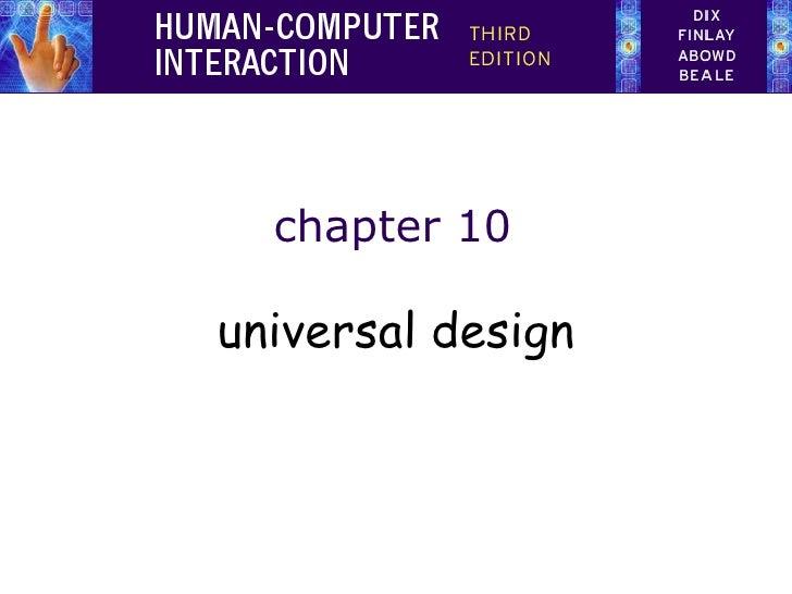 chapter 10 universal design