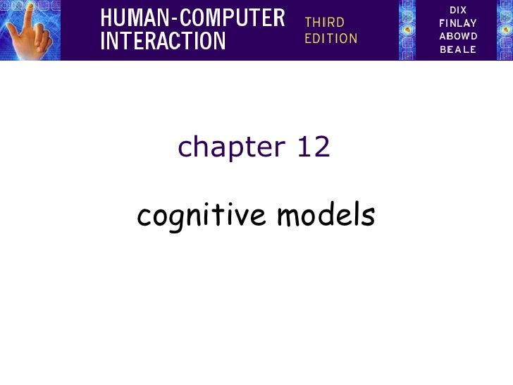 chapter 12 cognitive models