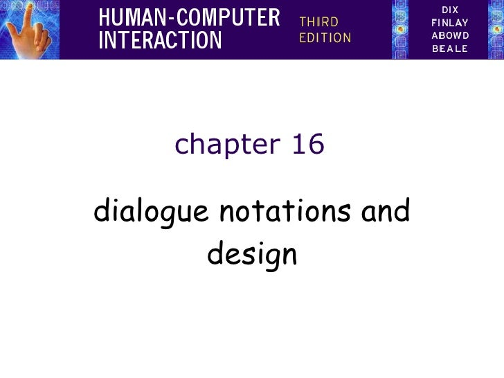 chapter 16 dialogue notations and design
