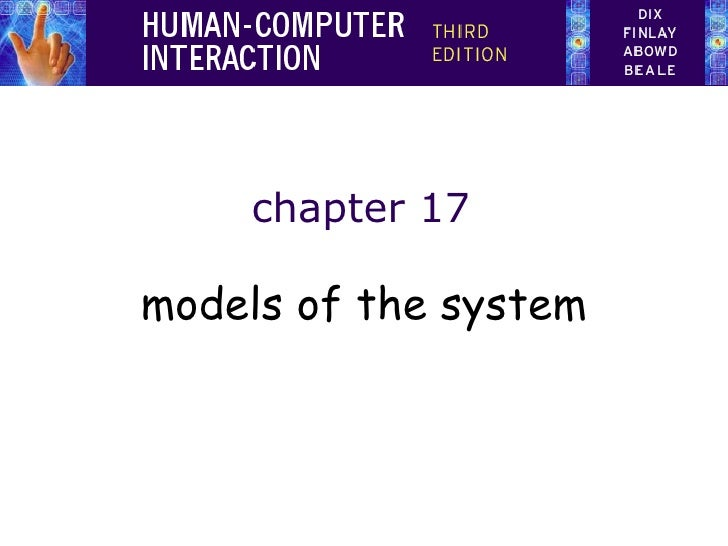 chapter 17 models of the system