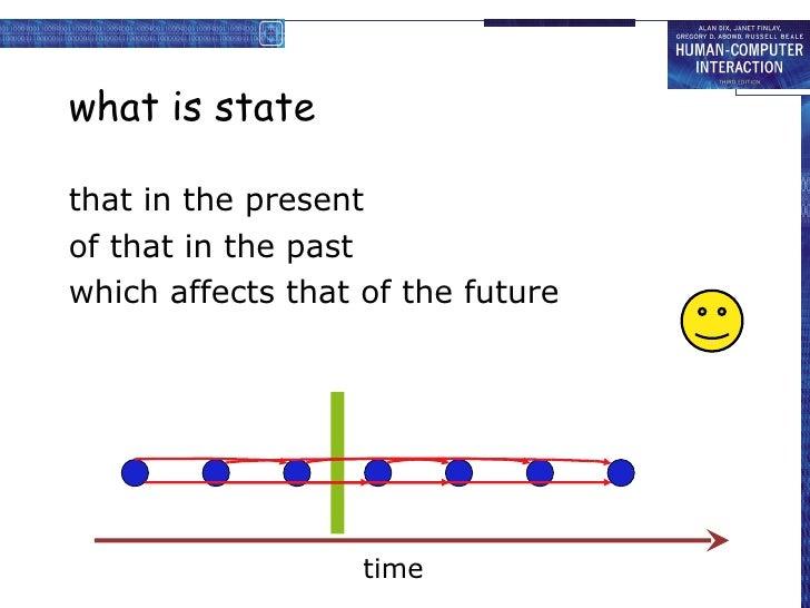 what is state <ul><li>that in the present </li></ul><ul><li>of that in the past </li></ul><ul><li>which affects that of th...