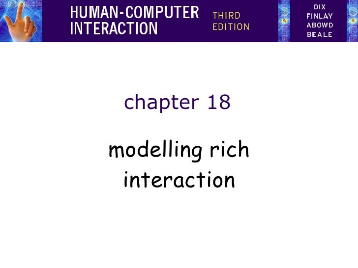 chapter 18 modelling rich interaction