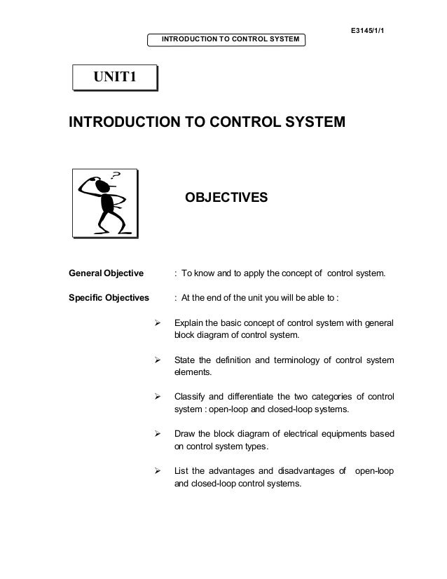 Basic control system unit1 e314511 introduction to control system introduction to control system objectives general objective ccuart Choice Image