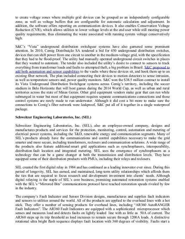 Vista Underground Distribution Switchgear: Zpryme Report On Distribution Sensors For QinetiQ