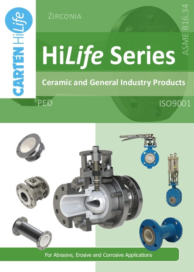 HiLife Series Ceramic and General Industry Products For Abrasive, Erosive and Corrosive Applications ISO9001PED Zirconia A...