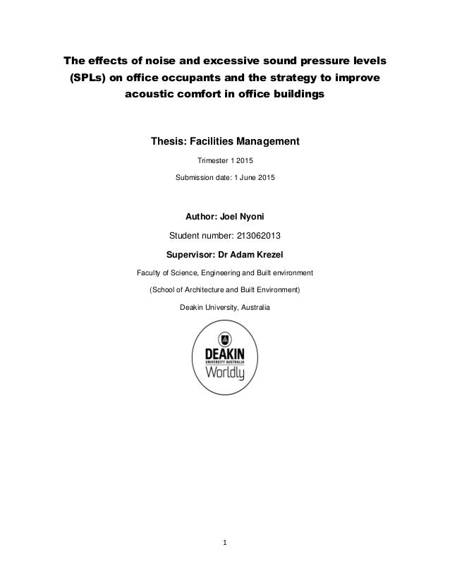 facility management dissertation