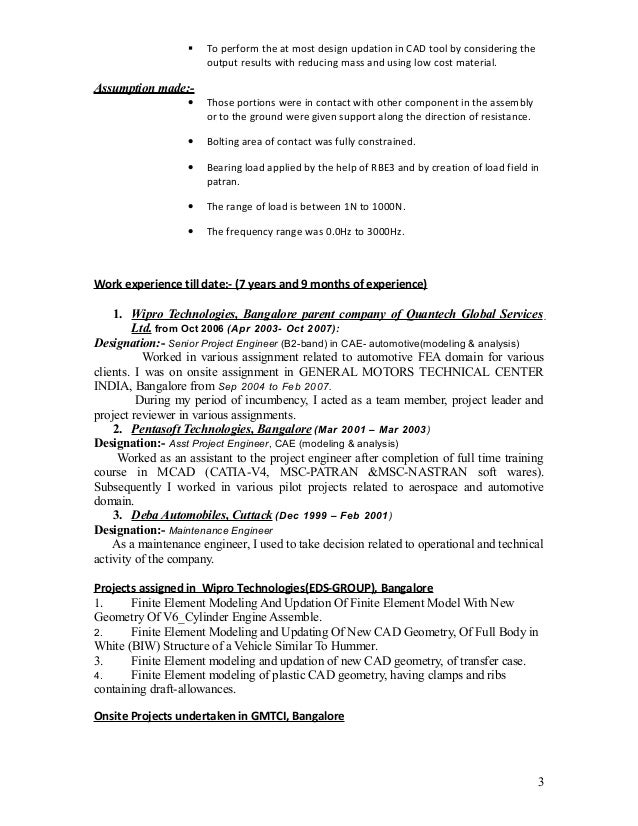 Resume With Current Work