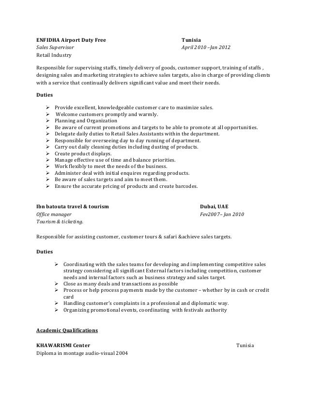 Amazing Resume On Duty Pictures - Simple resume Office Templates .
