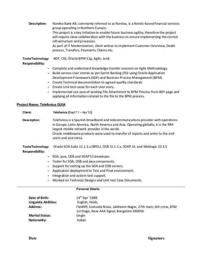 oracle adf resume imtac linkedin sample resume on oaf oracle