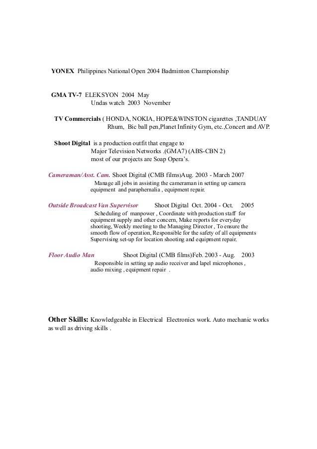 Manage Bde Resume