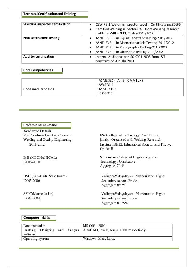manoj ps welding engineer resume