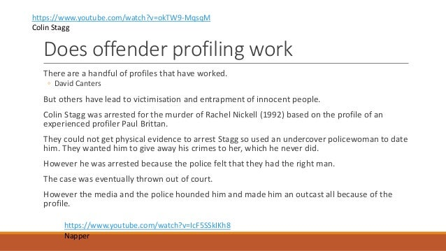 ea offender profiling 6 does offender profiling