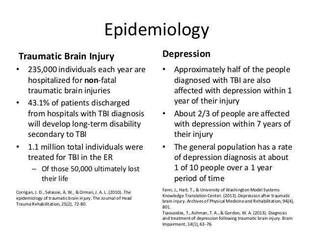 Traumatic Brain Injury and Depression Presentation