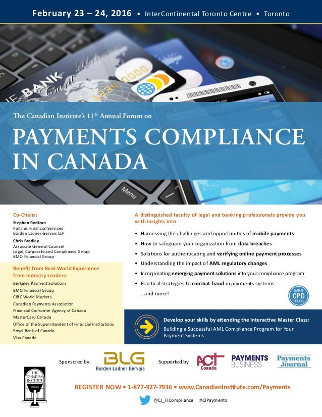 Payments Compliance in Canada Forum (2016)