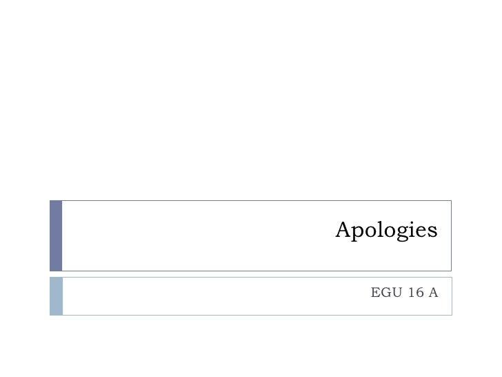 Apologies     EGU 16 A