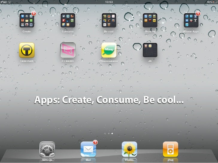 Apps: Create, Consume, Be cool...