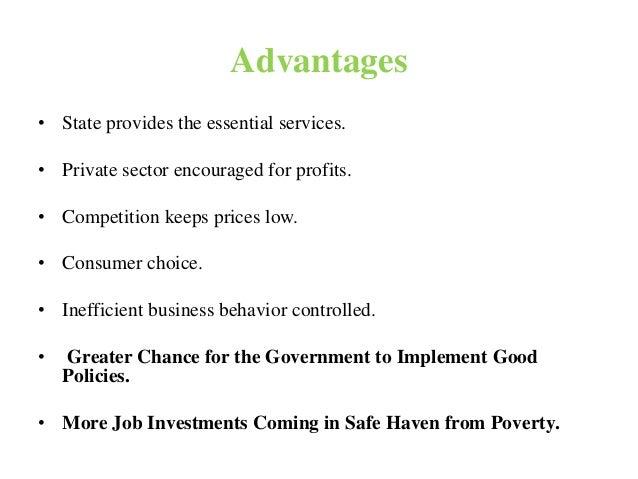 advantages of mixed economy