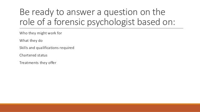 E3c1 the job of a forensic psychologist Slide 2