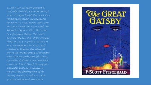 a literary analysis of winter dreams and the great gatsby by f scott fitzgerald The great gatsby and the american dream  but it is telling that even economists think that f scott fitzgerald's masterpiece offers the most resonant (and economical) shorthand for the problems .