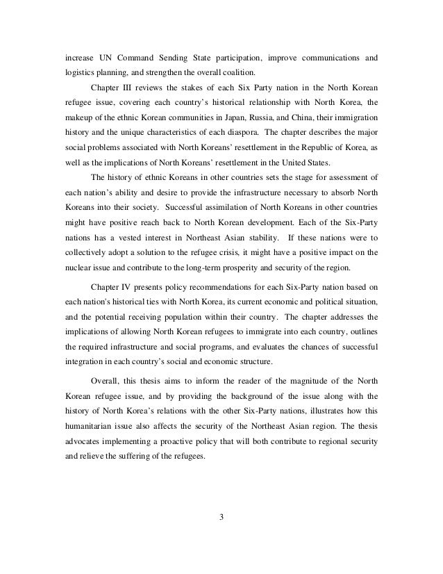north korea thesis 1 north korea threat not recorded through us asset prices: evidence from  events in the 21st century jyri j knaapinen bachelor's thesis.