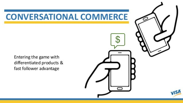 CONVERSATIONAL COMMERCE Entering the game with differentiated products & fast follower advantage
