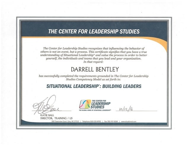 Situational Leadership Building Leaders